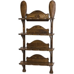 All Resort Furnishings Canoe Paddle Wall Shelf - Ash Wood in See Photo