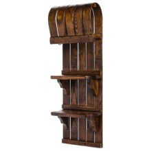 "All Resort Furnishings Toboggan 2-Shelf Unit - 36"" in See Photo - Closeouts"