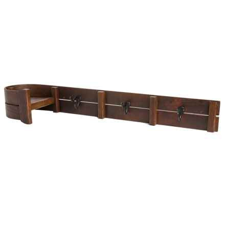 All Resort Furnishings Toboggan Coat Hooks in Brown - Closeouts