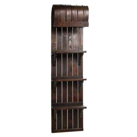 "All Resort Furnishings Toboggan Shelf - 57"" in Brown - Closeouts"
