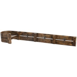 All Resort Furnishings Vintage Toboggan Coat Rack in Natural