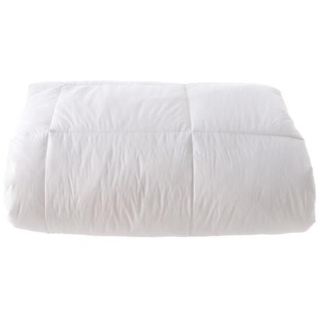 Image of All-Season Down-Alternative Stripe White Comforter - Full-Queen, 300 TC Cotton