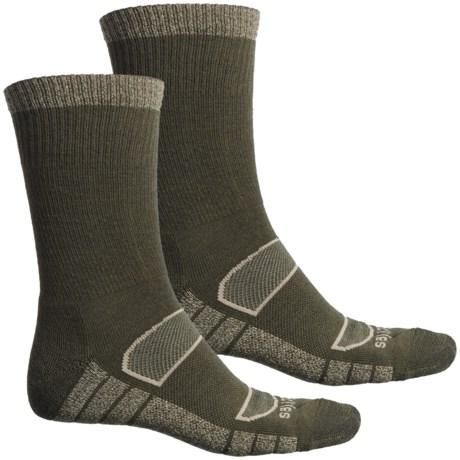 All-Season Work Socks - 2-Pack, Merino Wool, Crew (For Men) - MOSS (L ) thumbnail
