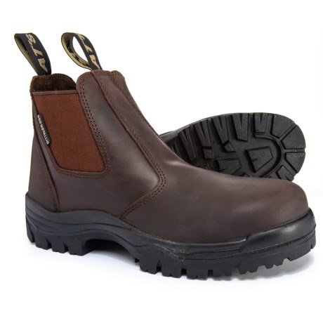 Image of All-Terrain Chelsea Work Boots - Composite Safety Toe, Leather (For Men)