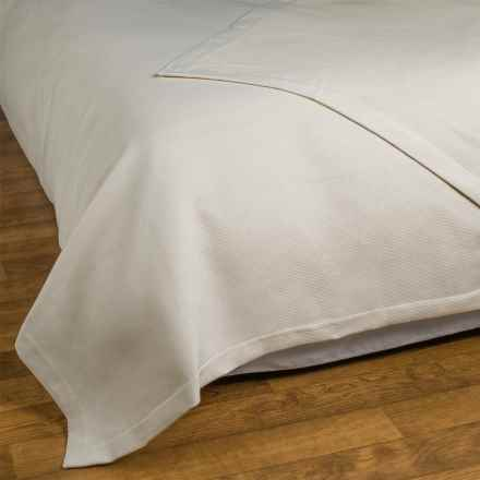 Allegria Fine Linens Ribbed Coverlet - King in Ivory - Closeouts