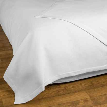 Allegria Fine Linens Ribbed Coverlet - King in White - Closeouts