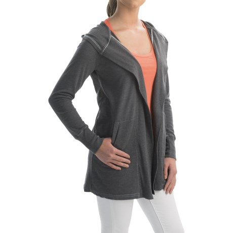 allen allen Hooded Cardigan Sweater (For Women)