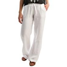 allen allen Linen Beach Pants (For Women) in White Solid - Closeouts