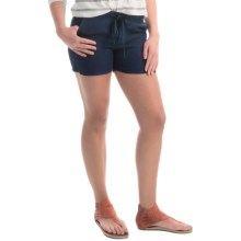 allen allen Linen Shorts (For Women) in Lapis - Overstock