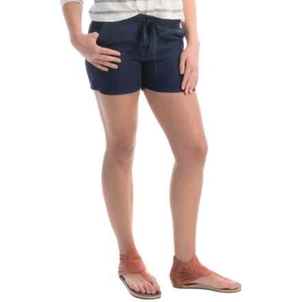 allen allen Linen Shorts (For Women) in Lapis - Overstock