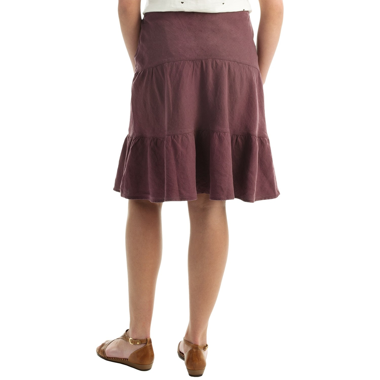 allen allen linen tiered skirt for 142vg save 59