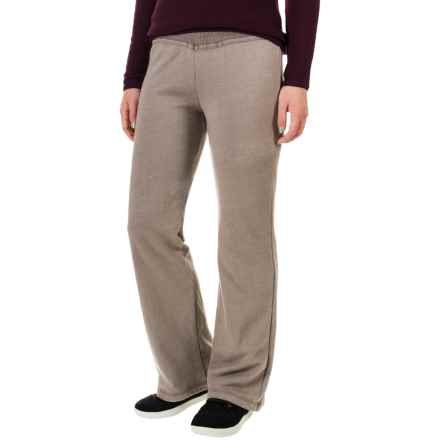 allen allen Long French Terry Pants - Relaxed Fit (For Women) in Mushroom - Closeouts