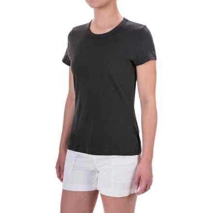 allen allen Mesh T-Shirt - Short Sleeve (For Women) in Jet Grey - Overstock