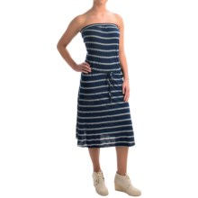 allen allen Stripe Tube Dress - Sleeveless (For Women) in Lapis - Overstock