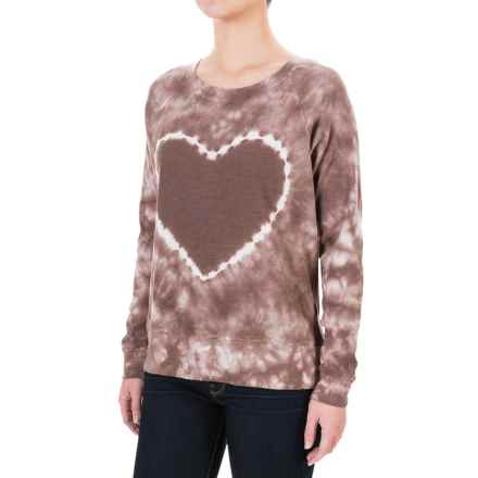 allen allen Tie-Dye Heart Shirt - Long Sleeve (For Women) in Chocolate - Closeouts