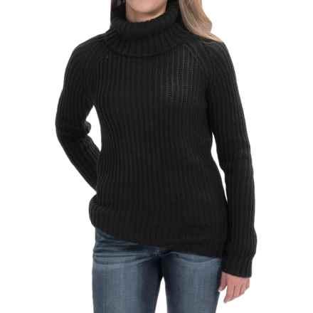 allen allen Turtleneck Sweater (For Women) in Black - Closeouts