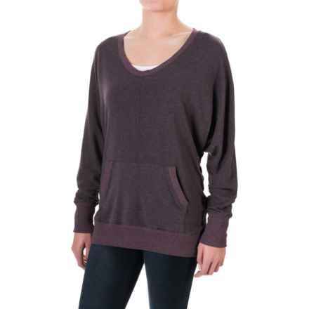 allen allen Two-Pocket Sweater (For Women) in Eggplant - Closeouts
