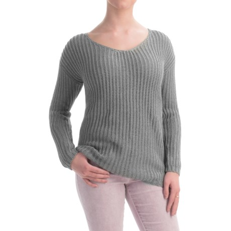 allen allen V Neck Cotton Sweater (For Women)