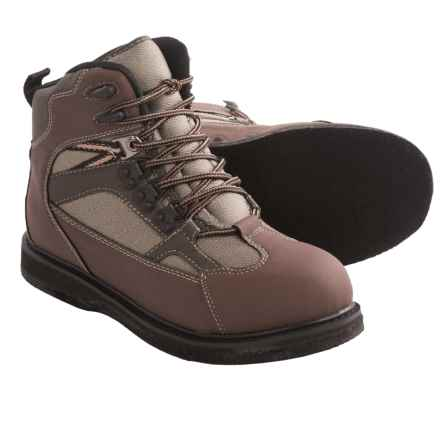 Allen Co. Blue River Wading Boots - Felt Outsole (For Men and Women) in Brown/Sage - Closeouts