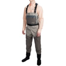 Allen Co. North Fork Breathable Chest Waders - Stockingfoot (For Men) in Grey - Closeouts