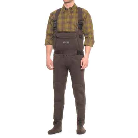 Allen Co. Rock Creek Neoprene Stockingfoot Chest Waders (For Men) in Brown - Closeouts