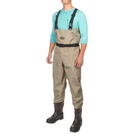 Allen Co. Spring Creek Bootfoot Waders - Thinsulate®, Rubber Boot with Felt Sole (For Men) in Tan - Closeouts