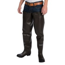 Allen Co. Wolf River Rubber Bootfoot Hip Waders (For Men) in Brown - Closeouts