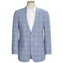 Allen Edmonds Blue Plaid Sport Coat - Linen-Cotton (For Men) in Blue - Closeouts