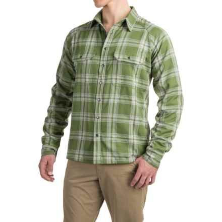 Allen Fly Fishing Exterus Fireside Flannel Shirt - Lined, Long Sleeve (For Men) in Avocado - Closeouts