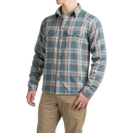 Allen Fly Fishing Exterus Fireside Flannel Shirt - Lined, Long Sleeve (For Men) in Stone - Closeouts