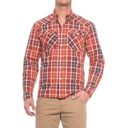 Allen Fly Fishing Exterus Frontier Shirt - Snap Front, Long Sleeve (For Men) in Red - Closeouts