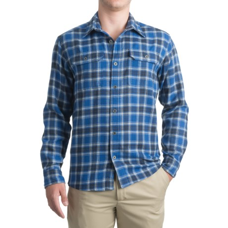 Allen Fly Fishing Exterus Hearthstone Flannel Shirt - UPF 50+, Long Sleeve (For Men) in Blue