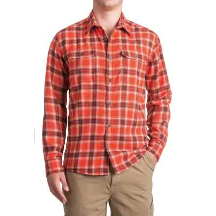 Allen Fly Fishing Exterus Hearthstone Flannel Shirt - UPF 50+, Long Sleeve (For Men) in Red - Closeouts