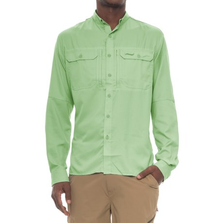 Allen Fly Fishing Exterus Marathon Key Fishing Shirt - UPF 40+, Long Sleeve (For Men) in Key Lime