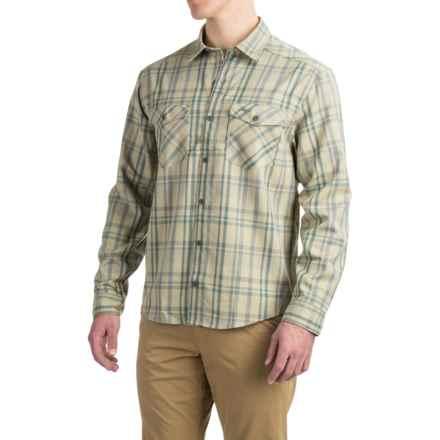 Allen Fly Fishing Exterus Meridian Shirt - UPF 50+, Long Sleeve (For Men) in Khaki Brown - Closeouts