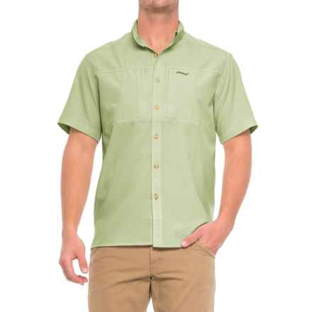 Allen Fly Fishing Exterus Streamer Shirt - Short Sleeve (For Men) in Sage - Closeouts