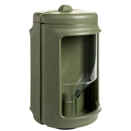 Allied Precision Dual Chamber Bird Feeder in Living Green