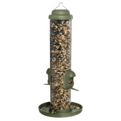 Allied Precision Dual Purpose Finch Tube Bird Feeder in Living Green
