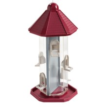 Allied Precision Hanging Dual Chamber Bird Feeder in Red - Closeouts