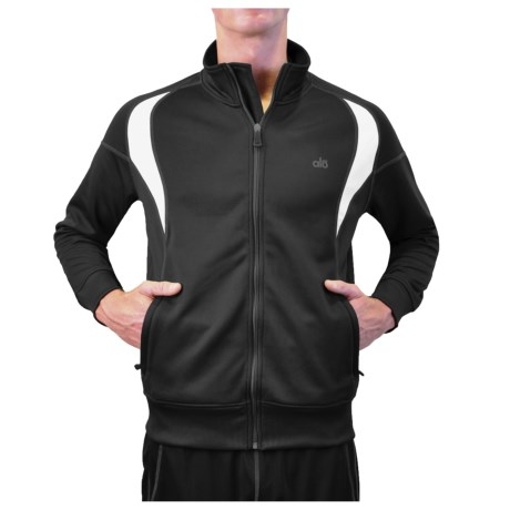 Alo Boost Jacket (For Men) in Anthracite/White
