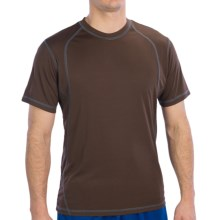 Alo CoolFit Pieced T-Shirt - Short Sleeve (For Men) in Coffee/Slate - Closeouts
