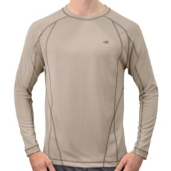 Alo Element T-Shirt - Recycled Materials, Long Sleeve (For Men) in Cement