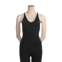 Alo High-Performance Tank Top - Built-in Bra, Racerback (For Women) in Black/White - Closeouts