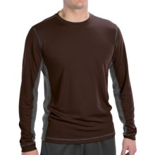 Alo Jacquard T-Shirt - Long Sleeve (For Men) in Coffee/Slate - Closeouts