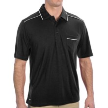 Alo Polo Shirt - Short Sleeve (For Men) in Black/White - Closeouts