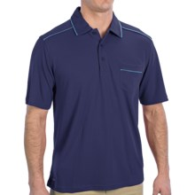 Alo Polo Shirt - Short Sleeve (For Men) in Navy/Pacific - Closeouts