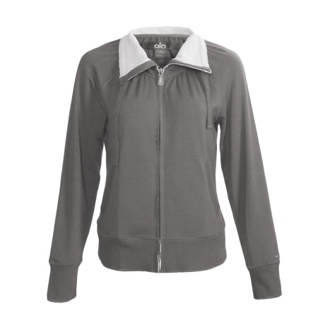 Alo Relax Zip Jacket (For Women) in Granite