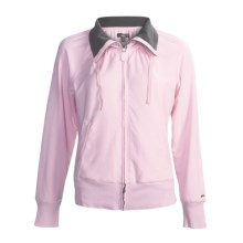 Alo Relax Zip Jacket (For Women) in Powder Pink - Closeouts