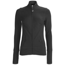 Alo Shirred Yoga Jacket (For Women) in Black - Closeouts