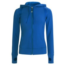 Alo Synergy Hoodie Jacket - Mesh Inset (For Women) in Blue Dazzle - Closeouts